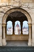 View on parliament building in Budapest, Hungary. Stock Photos