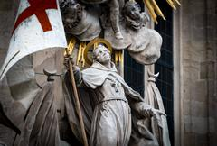 Statue at St Stephens Cathedral in Vienna Austria - stock photo
