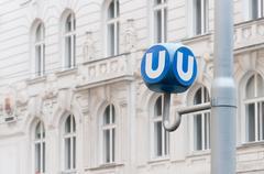 Public transport sign in Vienna, Austria - stock photo