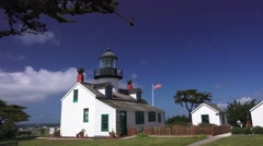 Point Pinos lighthouse Stock Footage