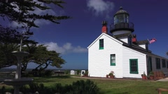 Pan right, Point Pinos lighthouse Stock Footage