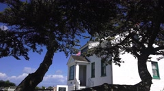 Tilt down, Point Pinos lighthouse Stock Footage