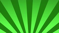 Radial rising sun burst loop geometric motion background green Stock Footage
