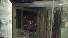 Point Pinos lighthouse, machine that rotate the old lighthouse flame - stock footage