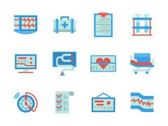 Stock Illustration of Flat color design healthcare vector icons