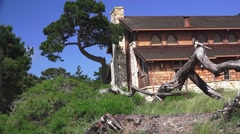 Asilomar State Parks, rustic early building at the park Stock Footage