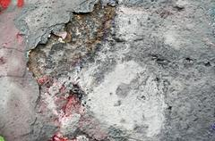 Old wall with paint peeling Stock Photos