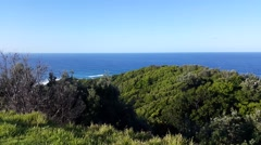 Byron Bay Cliffs and sea view Stock Footage