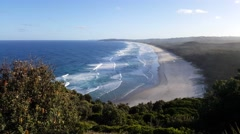 Byron Bay View from the cliffs 4K Stock Footage