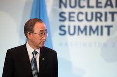 UN Secretary General Ban Ki-moon - stock photo