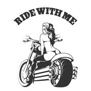 Ride with Me Stock Illustration