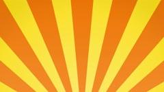 Radial rising sun burst loop geometric motion background yellow and orange Stock Footage