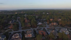 Aerial view of a typical neighborhood in the suburbs and suburban life, 4K UHD Stock Footage