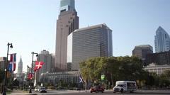 Modern tall buildings in the city center, Philadelphia Arkistovideo