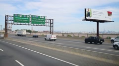 Movement along  New Jersey Turnpike to New York. Stock Footage