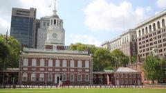 Independence Hall in Philadelphia, Pennsylvania, USA Stock Footage