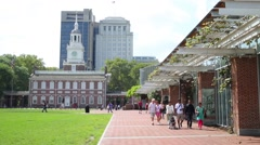 Independence Hall is place where discussed, agreed and signed in 1776 Stock Footage