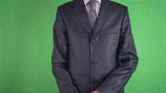 Stock Video Footage of Handsome young man throwing money on chroma key