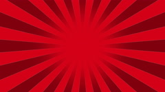 Red Burst vector background. - stock footage