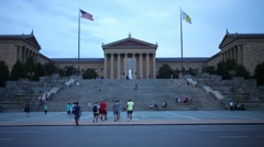 Building of the Philadelphia Museum of Art. Stock Footage