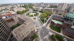 Benjamin Franklin Parkway, Cathedral Basilica of St. Peter and Paul Stock Footage