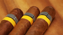 Cigars Still-life in a sunny day Stock Footage