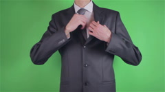 Handsome young man count money on chroma key - stock footage