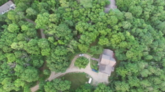 Aerial of forest in Kansas City - stock footage