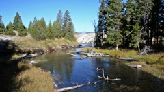Yellowstone River Landscape - stock footage