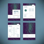 Business annual report template infographics data analysis layout for - stock illustration