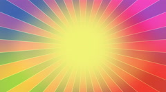 Rainbow Burst vector background. - stock footage