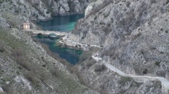 Gorges of Sagittarius Scanno Abruzzo, Italy Stock Footage
