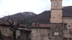 Villalago small town in Abruzzo Stock Footage