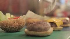 Making Hamburger Stock Footage