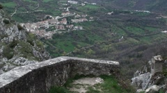 Castrovalva small town of Abruzzo Stock Footage