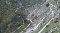 Gorges of Sagittarius, Abruzzo Stock Footage
