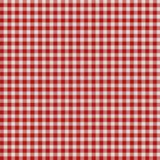 Red checkered fabric texture background - stock photo