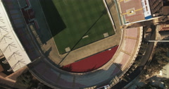 Aerial shot - A top shot over a Football Stadium Stock Footage