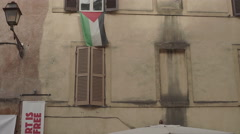 Solidarity for syrians in a street of rome Stock Footage