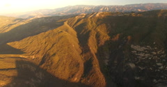 Aerial of mountain and landscape in Santa Barbara - stock footage