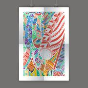 Stylish presentation of wall poster, magazine cover, design paper print template Stock Illustration