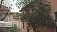 TRASTEVERE building view Stock Footage
