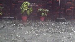Strong thunderstorm with hail Stock Footage
