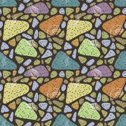 Vector seamless pattern of variety men shoes - stock illustration