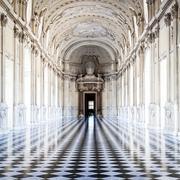 Italy - Royal Palace: Galleria di Diana, Venaria - stock photo