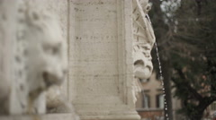 Historical fountain in TRASTEVERE Stock Footage