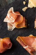 Organic Dry Prosciutto Appetizer Stock Photos