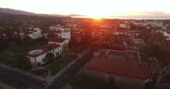 Aerial of cityscape in Santa Barbara Stock Footage