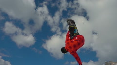 Snowboarder jumps doing backflip slow motion Stock Footage
