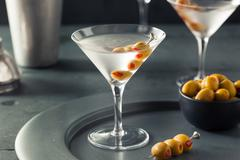 Classic Shaken Dry Vodka Martini Stock Photos